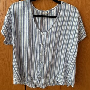 Maurices Stripe Button Up Shirt